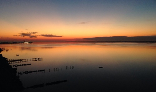 Sunrise over pensacola bay - 3-10-14
